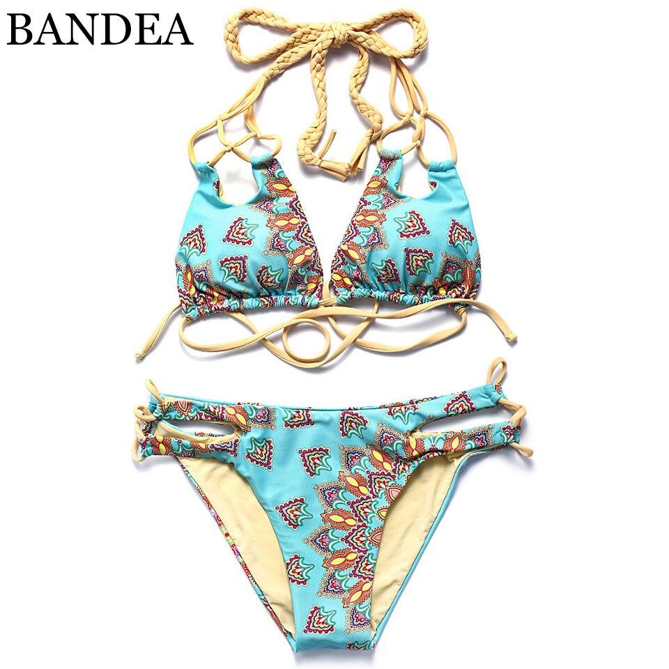 っBandea bañadores bikini 2018 verano sexy bañadores mujeres Halter ...