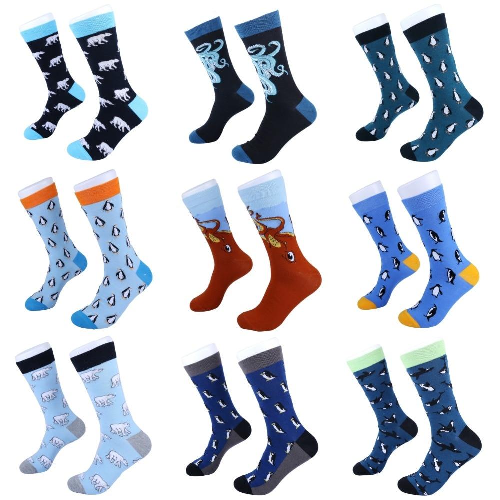 2019 New Design Casual Socks Harajuku Style Sock Bear Penguin Octopus Whale Pattern  Animal Socks For Women Men Wholesale