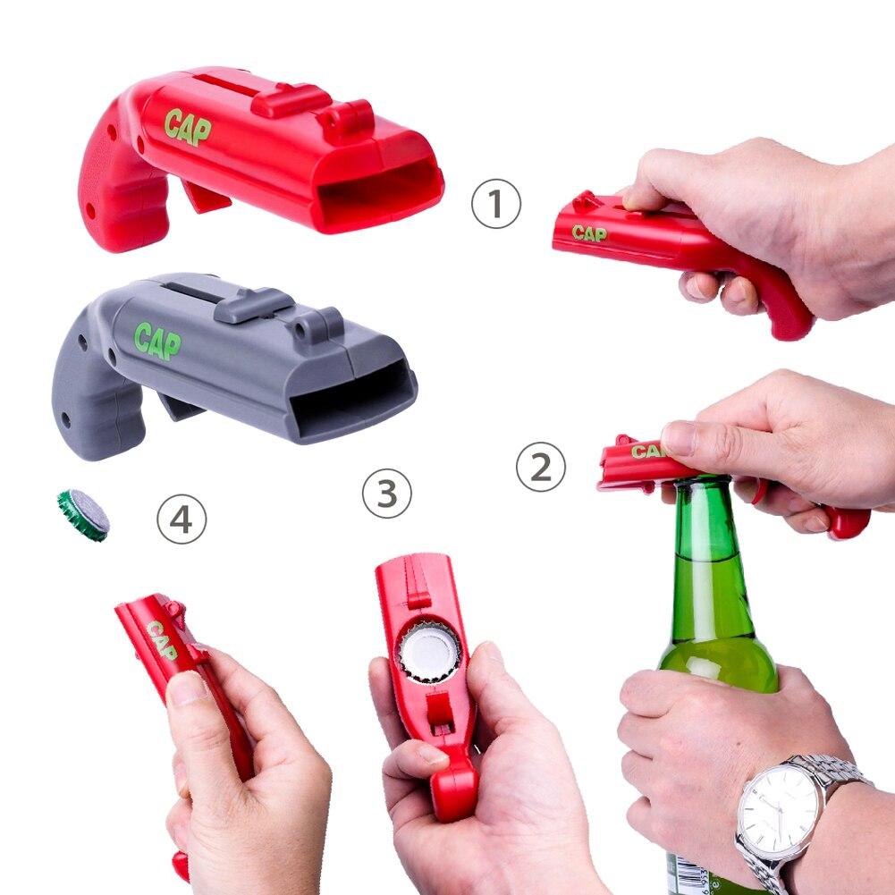 Portable flying cap beer opener funny bottle opener launcher drink opening cap shooter bar tools 130