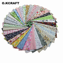 20Pcs 20x25cm Plain Thin Cotton Fabric Patchwork For Quilt Sewing Shabby Chic Stash Fabrics Tissu Tilda Floral Mixed Doll Cloth