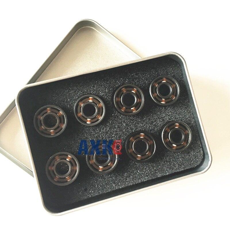FreeShipping Black Ceramic Inline Speed Skate Bearings 608 FreeLine Skate Bearing Inline Roller Skate Wheels Bearings