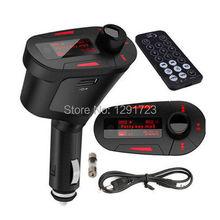 2015 Accesorios Del Coche Rojo Kit de Coche Reproductor de MP3 Transmisor FM Inalámbrico USB SD MMC + Control Remoto de alta calidad de Radio de Coche modulador