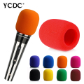 + Best Price+Free Shipping + Handheld Stage Microphone Windscreen Bright Red Foam Mic Cover Karaoke DJ Sales ENA044