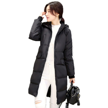 Winter New Women Cotton Coat Zipper loose Cotton Jacket Large Size Parka Pockets Solid color Hooded Thick warm Cotton Jacket 3XL