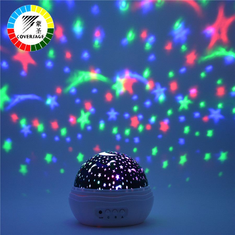 Coversage Night Light Projector Rotating Starry Sky Star Master Spin Romantic Led Lamp Projection Children Kids Baby Sleep