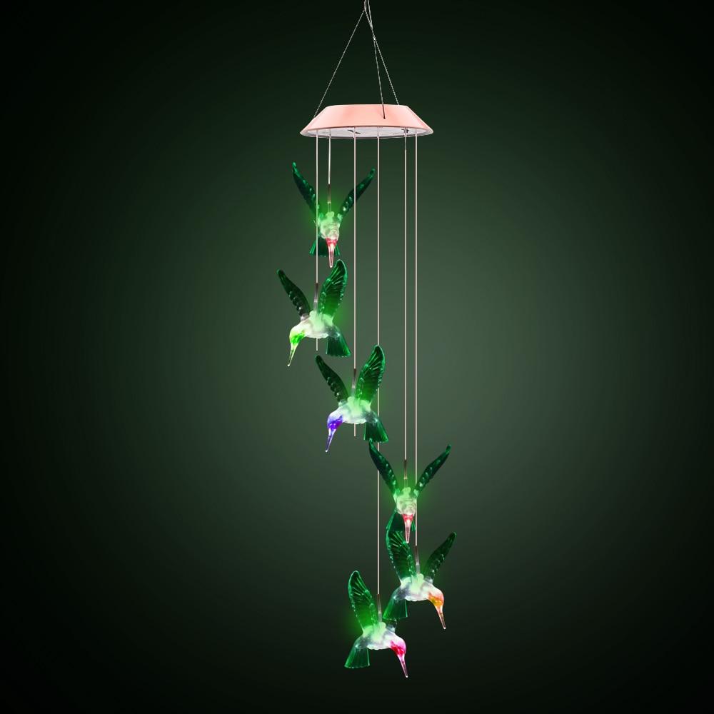 Led Decorative Lighting: 6Leds Solar Wind Chimes LED Decorative Light Multicolor