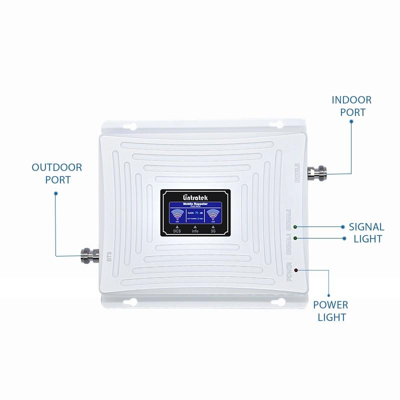 Lintratek 3G 4G Booster 1800 2100 Mhz répéteur 3G 2100 Booster de Signal 4G LTE 1800 amplificateur de Signal double bande UMTS LTE KW20C-DW #5 - 3