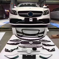 W213 E350 E63AMG Style Car Body Kit PP Unpainted Front Rear Bumper Side Skirts For Mercedes