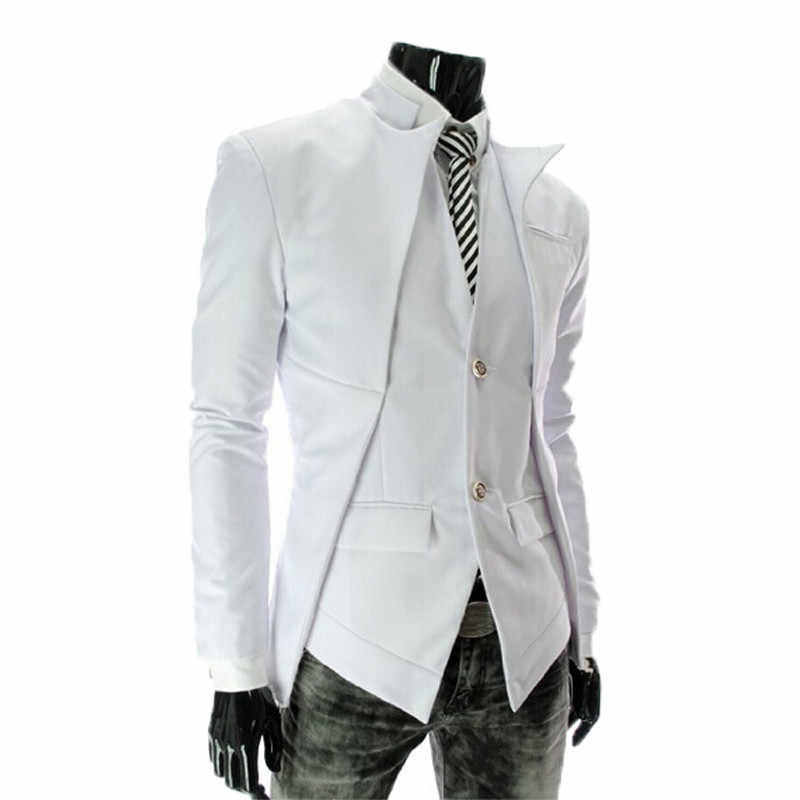 2018 ファッションメンズスーツジャケットイングランドスタイルスリムフィットブレザーコート男性スーツ Gentelmano ジャケットスーツジャケットドレスファッションプラス