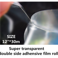 "1""* 30 м супер прозрачный двухсторонний клей для линзового использования 0,31 м ширина"