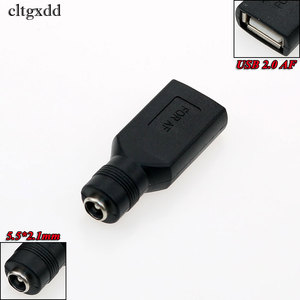 Image 3 - cltgxdd 5.5*2.1mm Female Jack to USB 2.0 AF AM Plug 5V DC Power Plug Connector Adapter For Asus X205T Lenovo Yoga 3 Laptop PC