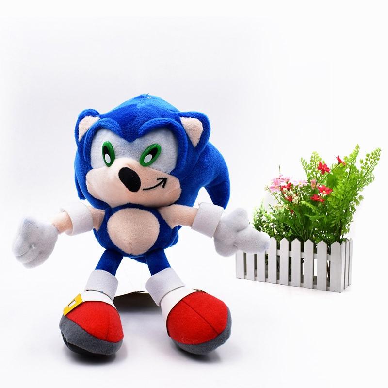 Oyuncaklar ve Hobi Ürünleri'ten Filmler ve TV'de 20 adet/grup Toptan Oyuncak Sonic Yumuşak Peluş Bebek Mavi Sonic Karikatür Hayvan Dolması peluş oyuncaklar Şekil Bebekler Hediyeler 20 cm'da  Grup 2