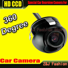 Factory Promotion CCD HD night vision 360 degree car rear view camera front camera front view side reversing backup camera ZJ