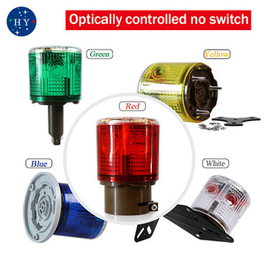 Image 2 - Lampe clignotante à lénergie solaire, lampe dalarme, balise LED, avec alarme de sécurité sur la route, lumineuse, jaune, bleu, vert et blanc
