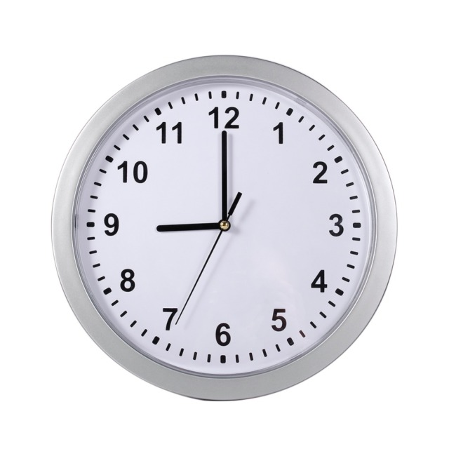 New Arrival Wall Clock Silver Living Room Decor Cash Hide Valuables Jewelry