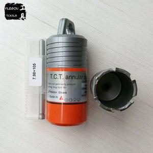"""Image 5 - Średnica 12 65mm * 50mm TCT obcinak pierścieniowy z chwytem Weldon 3/4 """", 22*50mm frez z twardego stopu, wiertło magnetyczne"""