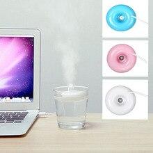 Мини портативный пончики USB воздухоувлажнитель очиститель Арома диффузор пара для дома горячий