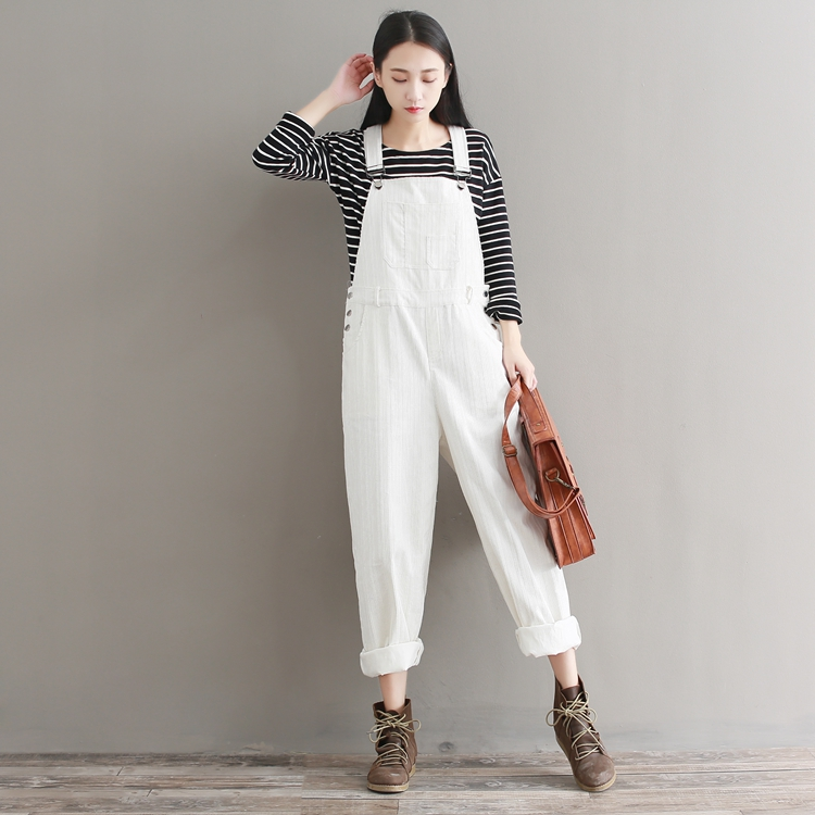 7ab3834c8c59 Vintage Womens Corduroy Jumpsuit Japanese Cute Solid Pink White ...