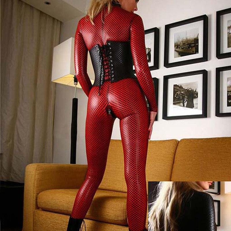 Hot Sexy Lingerie Plus Size Latex Jumpsuit Nightwear S 4XL Lady Women Lingerie Sexy Hot Erotic