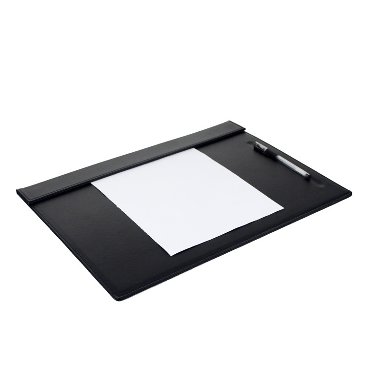 Large PU Leather Office Home Working Desk Set Pad Clipboard Meeting Roon Large Clipboard Pen Pencil