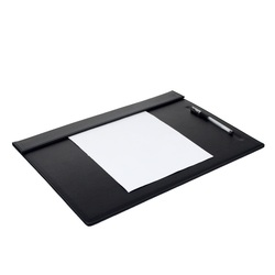 Large! PU Leather Office Home Working Desk Set Pad Clipboard Meeting Roon Large Clipboard Pen Pencil Holder Stand