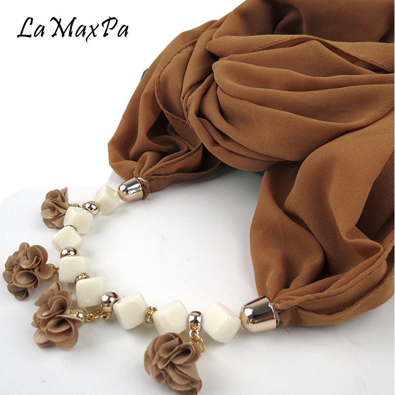 LaMaxPa Ladies Pendant   Scarf   Chiffon Hajab Foulard Femme Head   scarf     Wrap   Accessories Muslim Head   Scarf   Mujer Kerudung