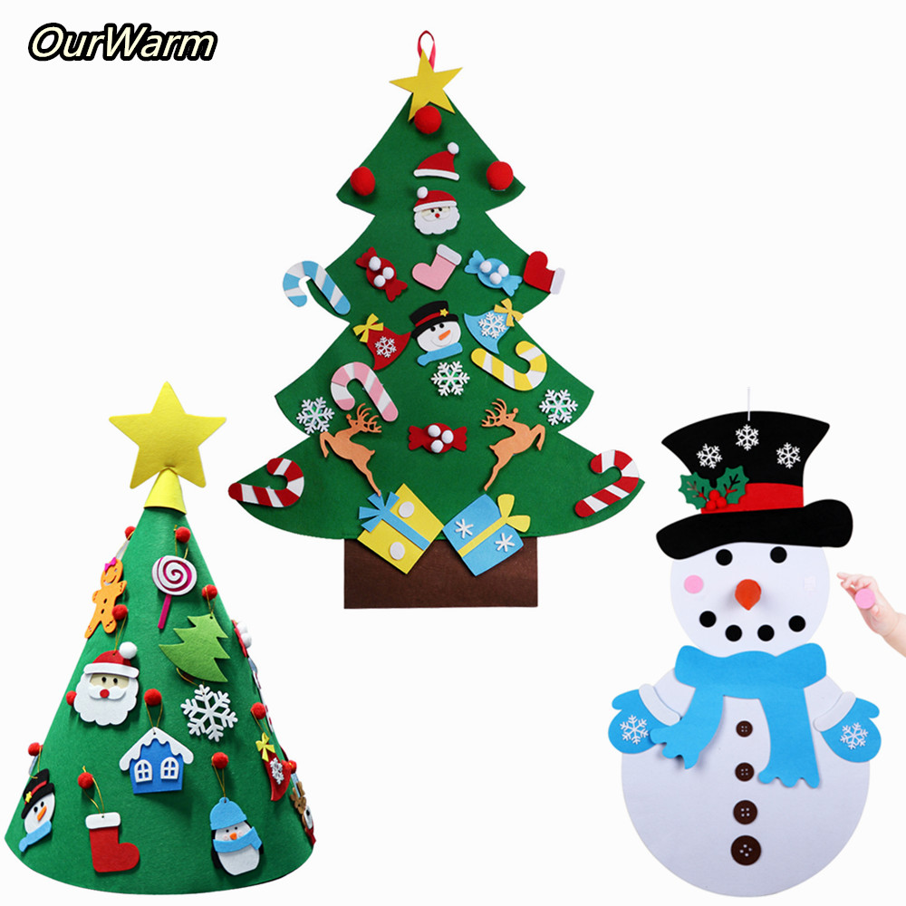 Toddler Christmas Tree Craft.Us 10 23 42 Off Ourwarm Diy Felt Craft Snowman Toddler Christmas Tree Toys Christmas Decoration For Home Kids Baby Gift Merry Christmas New Year In