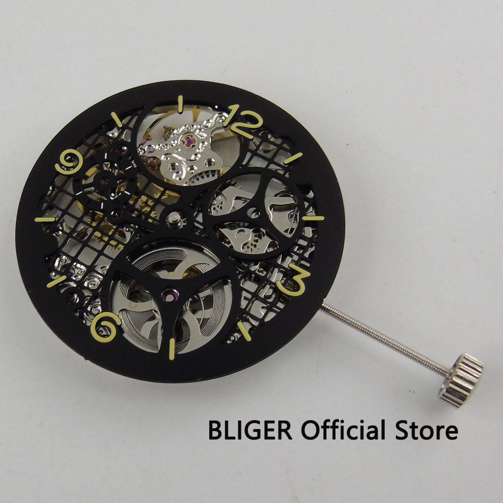 17 جواهر الفضة 6497 لف اليد حركة الهيكل العظمي الكامل إضافة واحد 38.7 ملليمتر الطلب M19-في لفافات الساعات من ساعات اليد على  مجموعة 2
