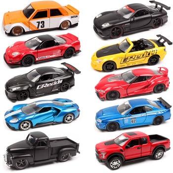 цена на 1:32 Scale Jada JDM Tuners Ford GT Datsun 510 Chevy Pickup Honda NSX Mazda RX-7 NISSAN Skyline GT-R R35 diecast racing model toy