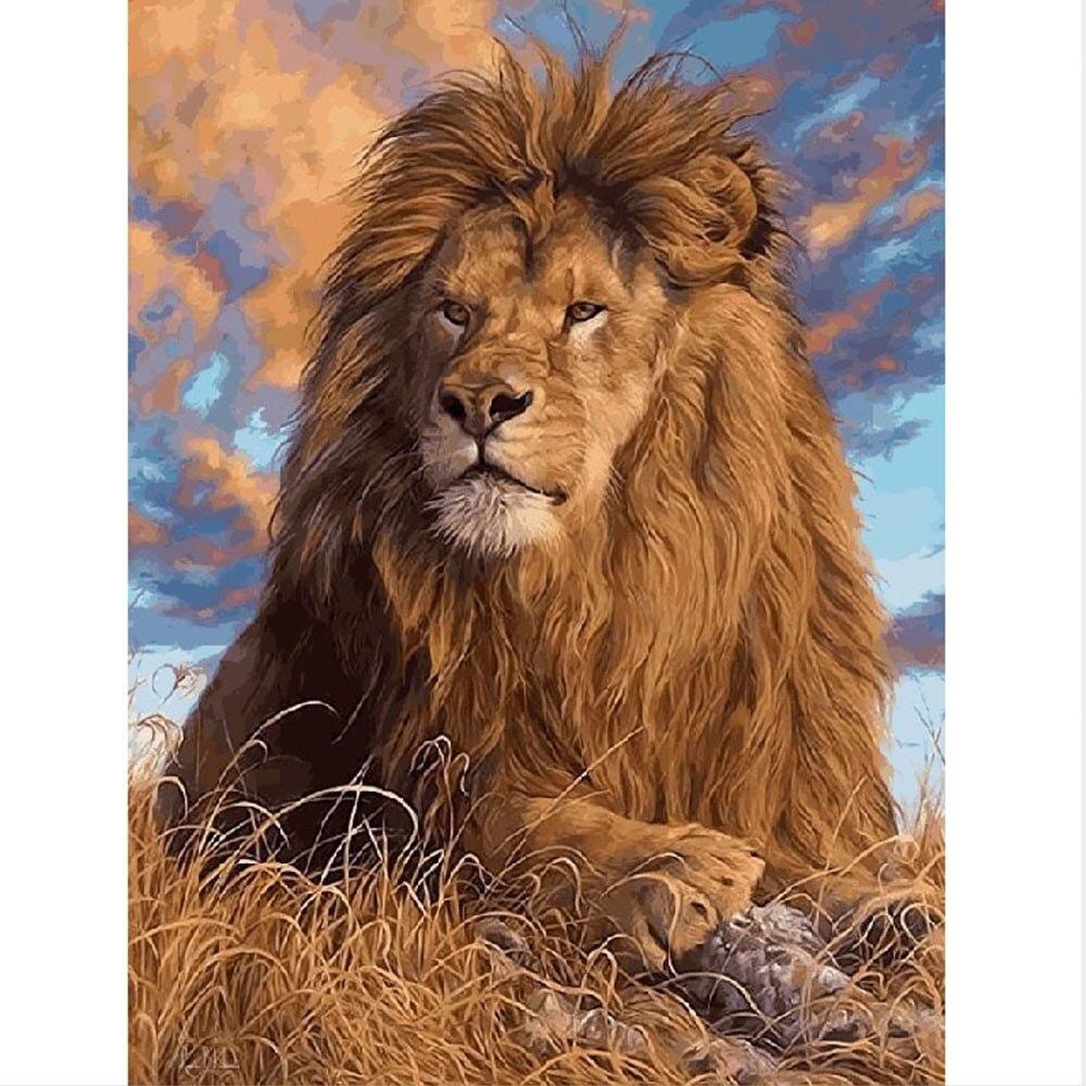 Tiger Macan Tutul Serigala Singa Mewarnai Dengan Angka