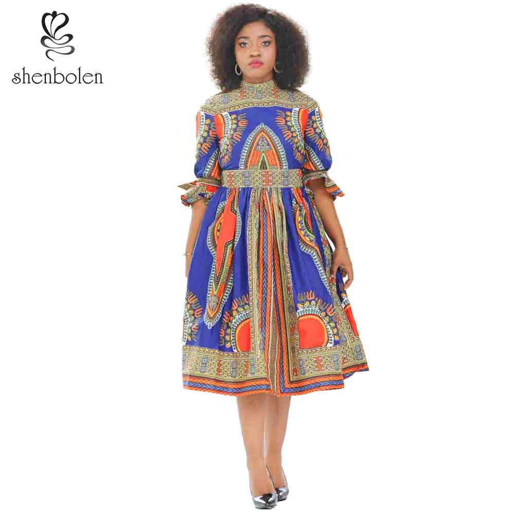 Detail Feedback Questions about Shenbolen New Fashion Design African Dresses  For Women Dashiki Wax Print Clothes Sexy Traditional Clothes Plus Size on  ... d442b03fe96d