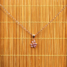 Cute Bear Paw Dog Claw Rose Gold Pendant Necklace