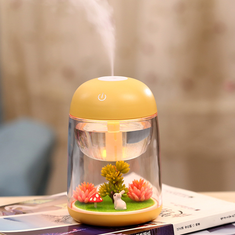 Creative Plant Humidifier Oil Essential 5V USB Aromatherapy Humidifier Diffuser Ultrasonic Humidifier for Office hot sale humidifier aromatherapy essential oil 100 240v 100ml water capacity 20 30 square meters ultrasonic 12w 13 13 9 5cm