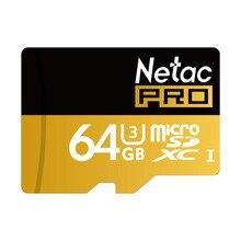 Netac P500 64 ГБ Карта Micro Sd Pro U3 Флэш-Карты Памяти Ультра Высокой Скорости UHS-I SDXC TF Карты