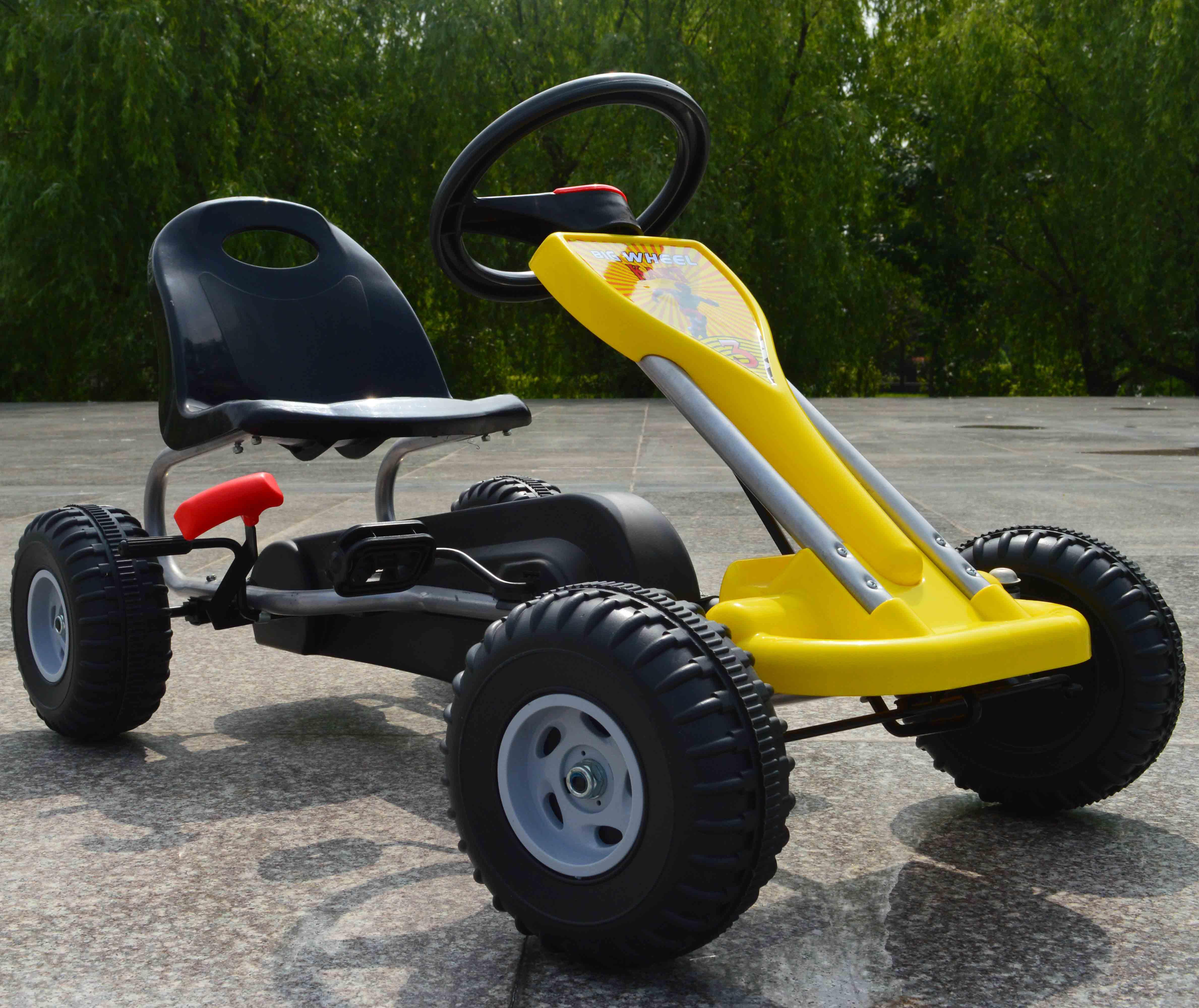 Racer coche del pedal/Go kart con Frenos de mano juventud Edades 3 + ...