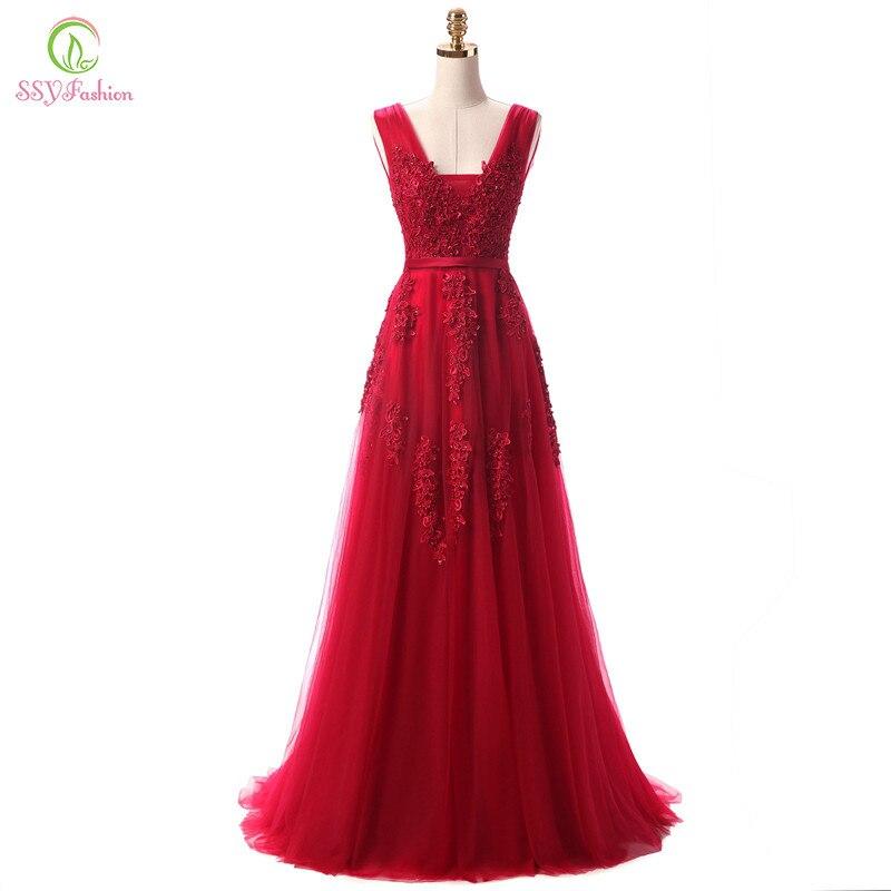 Robe De Soiree SSYFashion кружевное Бисероплетение сексуальное платье с открытой спиной Длинные вечерние платья банкет невесты элегантное платье в