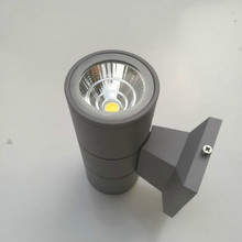 Aluminum Tube Circular Wall Lamp Black gray up down outdoor wall light 10W porch garden waterproof outdoor lighting