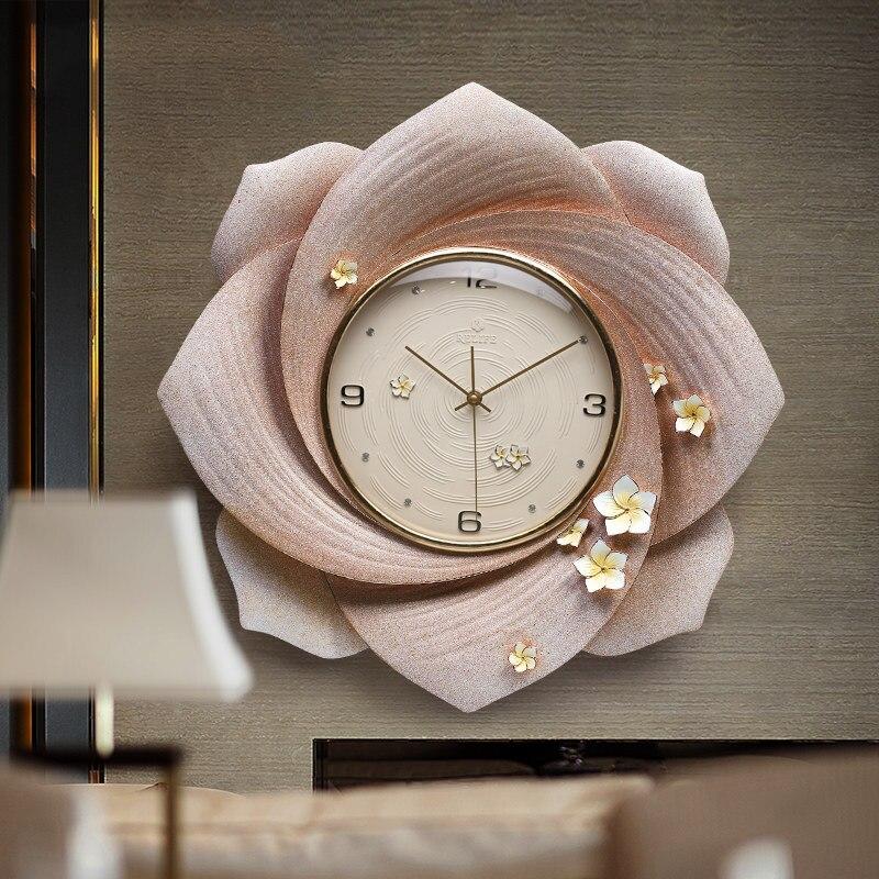 Современная роскошь тиснение полимерные настенные часы украшения ремесла креативные личные часы дома Висячие немой кварцевые часы фотообои с орнаментом