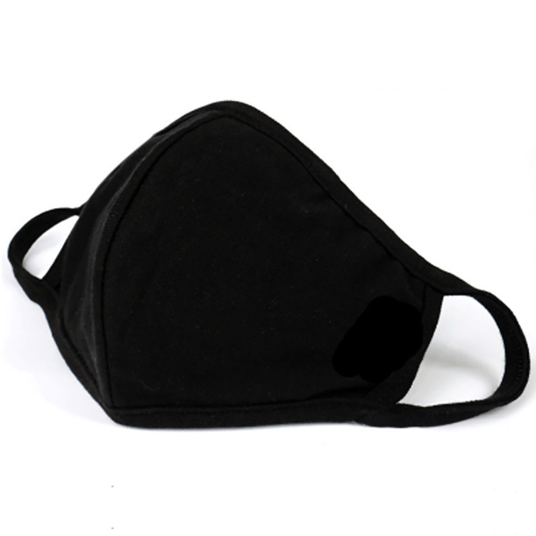 Black Bilayer Cotton Mouth Mask Anti Haze Dust Washable Reusable Double Layer Dustproof Mouth-muffle Winter Warm Mask