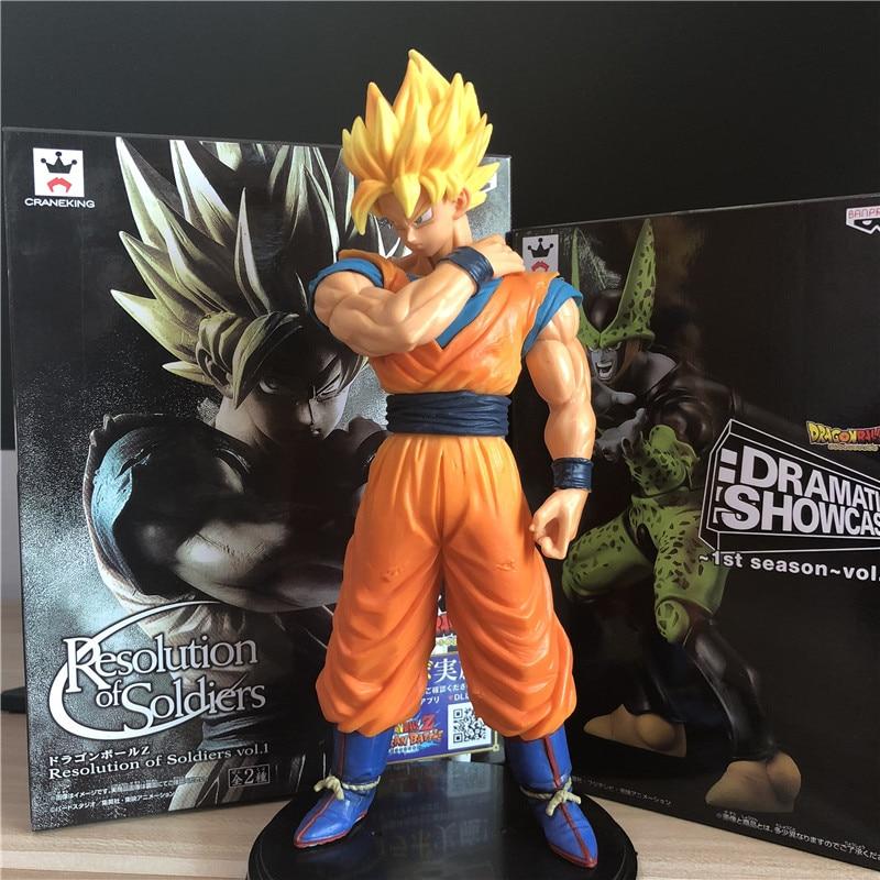 Dragon Ball Z Goku Super Saiyan Awakening Gohan Father Trunks Vegeta Pvc Anime Figure Dbz Collection Model 17cm Toys & Hobbies