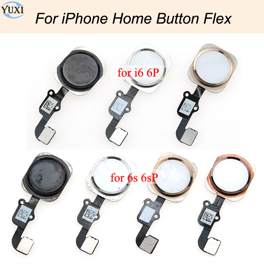 YuXi Home Button mit Flex Kabel für <font><b>iPhone</b></font> <font><b>6</b></font> <font><b>6</b></font> Plus <font><b>6</b></font> S <font><b>6</b></font> S Plus Home button Flex Montage, kann nicht verwenden <font><b>fingerprint</b></font> entsperren image