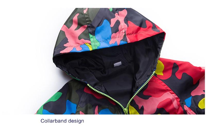 80-140cm Camouflage Spring Outerwear Children Hooded Jacket For Boys Kids Girls Trench Coat Hooded Windbreaker Sport Suit (12)