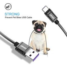 JianHan Luxury metal USB Cable Type C 5A Fast Charge Data Sync cord for Samsung Huawei LG Xiaomi OnePlus 5T Charging