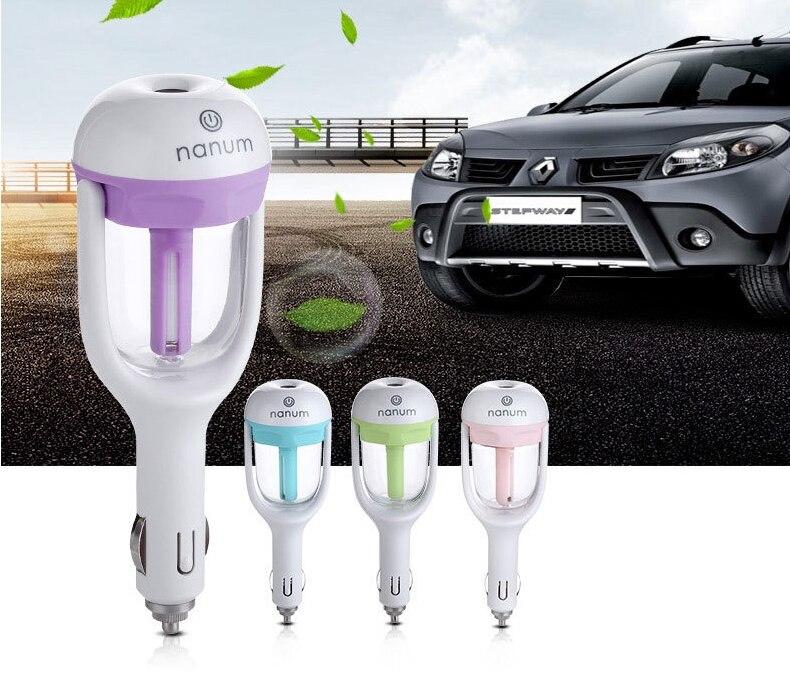 Car aroma humidificador atomización coche mini aerosol humidificador de aire