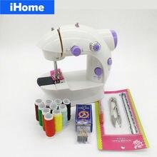 Светодиодный мини-швейный станок, Электрический домашний, сделай сам, домашний, домашний, для детей, швейная машина, домашняя часть, двойная скорость