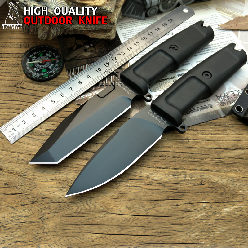 LCM66 high quality Fixed Blade Knife 7Cr17Mov Blade TPR Handle Hunting tool Extrema Ratio Camping knife outdoor Survival tool extrema ratio mf1 full auto ex 133mf1f autodwr khaki