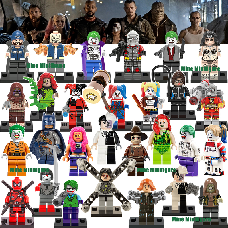 Latest Minifigures Single Sale 2016 New Suicide Squad Movie Marvel DC Super Heroes Avengers Batman Block compatible with lego