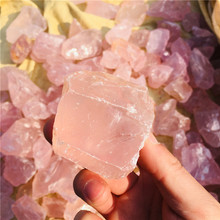 100g natural rough gemstones and minerals healing stones of raw pink crystal