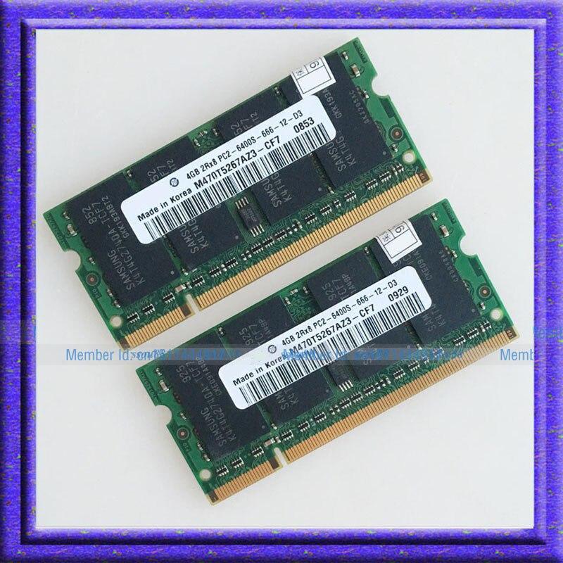DDR2 Laptop Memory 8GB 2x4GB PC2-6400 DDR2 800 800Mhz 200pin Laptop Memory SODIMM Notebook 2x4G RAM