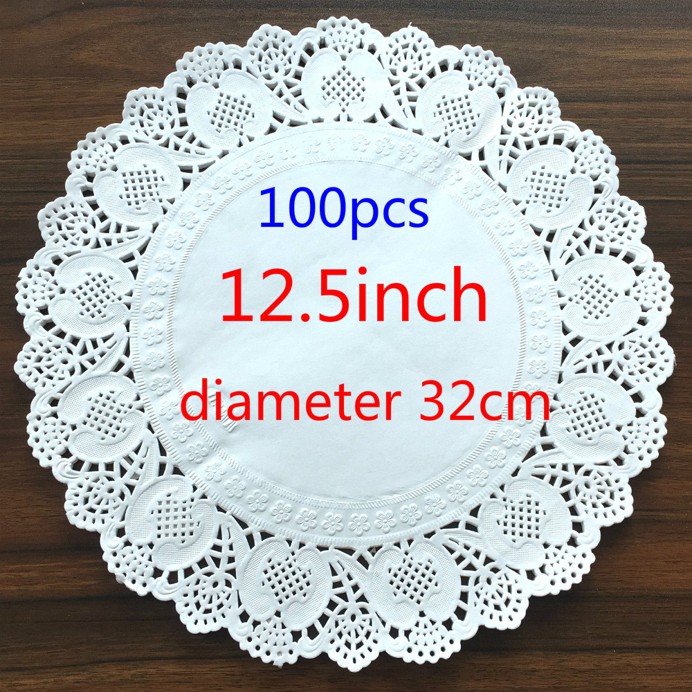 125inch320mm Vintage Napkin Hollowed Lace Paper Mat Crafts Paper